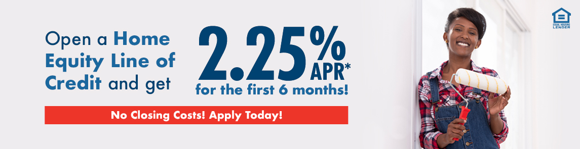 Open a Home Equity Line of Credit and ger 0% APR for the first 6 months. No Closing Costs. Apply today.