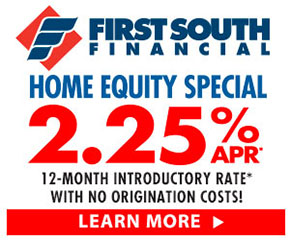 First south financial first mortgages first south financial for Home equity loan rates