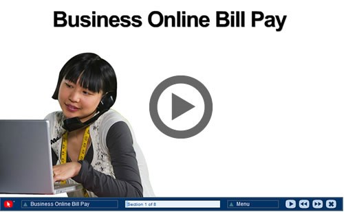 Screenshot of video for Business Online Bill Pay
